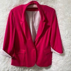 Reitmans Soft Bright Pink Blazer